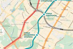 Схема Коммунарской линии