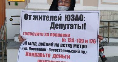 Пикеты у Мосгордумы. Бюджет 2021.